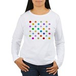 Rainbow Smiley Pattern Women's Long Sleeve T-Shirt