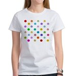 Rainbow Smiley Pattern Women's T-Shirt