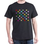 Rainbow Smiley Pattern Dark T-Shirt