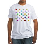 Rainbow Smiley Pattern Fitted T-Shirt