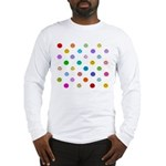 Rainbow Smiley Pattern Long Sleeve T-Shirt