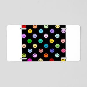Rainbow Smiley Pattern Aluminum License Plate