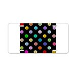Rainbow Smiley Pattern Aluminum License Plate