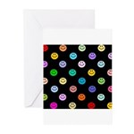 Rainbow Smiley Pattern Greeting Cards (Pk of 10)