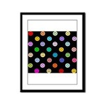 Rainbow Smiley Pattern Framed Panel Print