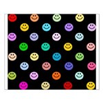 Rainbow Smiley Pattern Small Poster