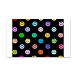 Rainbow Smiley Pattern 22x14 Wall Peel