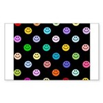 Rainbow Smiley Pattern Sticker (Rectangle)