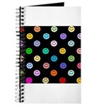Rainbow Smiley Pattern Journal