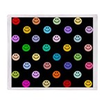 Rainbow Smiley Pattern Throw Blanket