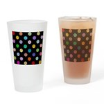 Rainbow Smiley Pattern Drinking Glass