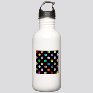 Rainbow Smiley Pattern Stainless Water Bottle 1.0L