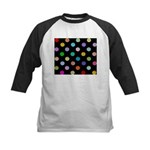 Rainbow Smiley Pattern Kids Baseball Jersey