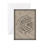 Celtic Eye Coin Greeting Cards (Pk of 10)