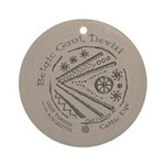 Celtic Eye Coin Ornament (Round)