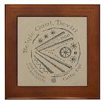 Celtic Eye Coin Framed Tile