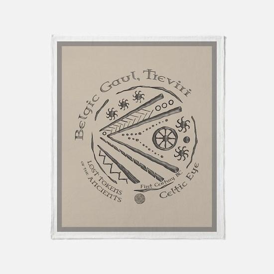 Celtic Eye Coin Throw Blanket