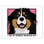 I Love My Bernese Small Poster