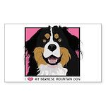 I Love My Bernese Sticker (Rectangle 50 pk)