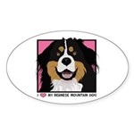 I Love My Bernese Sticker (Oval)