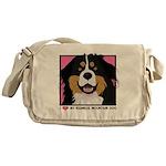 I Love My Bernese Messenger Bag
