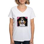 I Love My Bernese Women's V-Neck T-Shirt