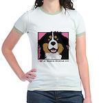 I Love My Bernese Jr. Ringer T-Shirt