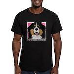 I Love My Bernese Men's Fitted T-Shirt (dark)