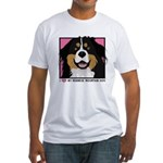 I Love My Bernese Fitted T-Shirt
