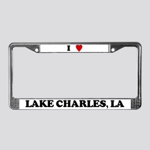 I Love Lake Charles License Plate Frame