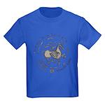 Celtic Wreath Rider Coin Kids Dark T-Shirt