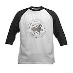 Celtic Wreath Rider Coin Kids Baseball Jersey