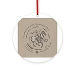 Celtic Wreath Rider Coin Ornament (Round)