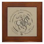 Celtic Wreath Rider Coin Framed Tile