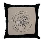 Celtic Wreath Rider Coin Throw Pillow