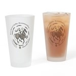 Celtic Wreath Rider Coin Drinking Glass