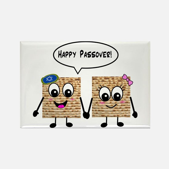 Happy Passover Matzot Rectangle Magnet