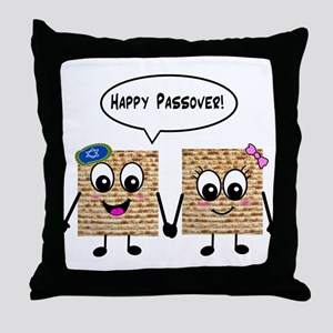 Happy Passover Matzot Throw Pillow