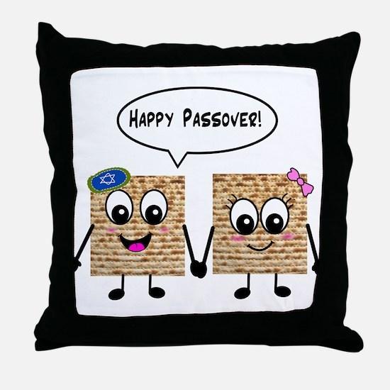Happy Passover Matzot Throw Pillow