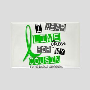 I Wear Lime 37 Lyme Disease Rectangle Magnet