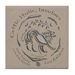 Celtic Lion Coin Tile Coaster