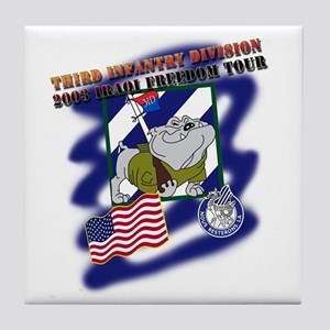 2003 IraqiFreedomTour Tile Coaster