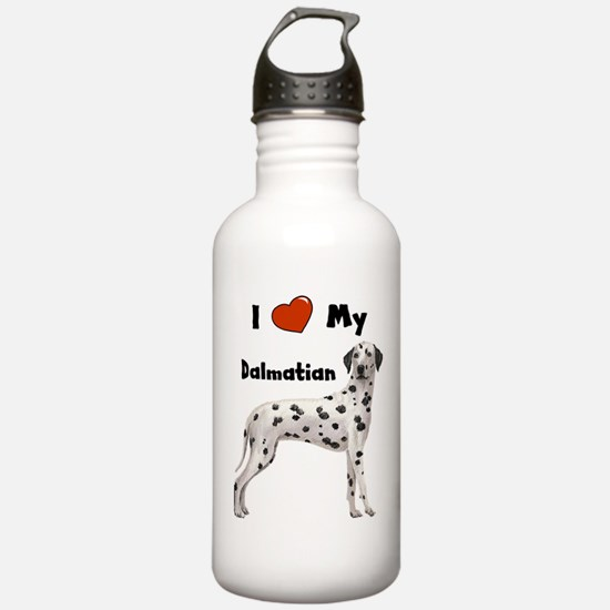 I Love My Dalmatian Water Bottle