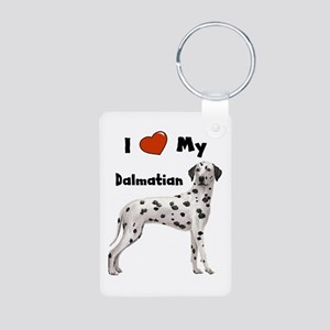 I Love My Dalmatian Aluminum Photo Keychain