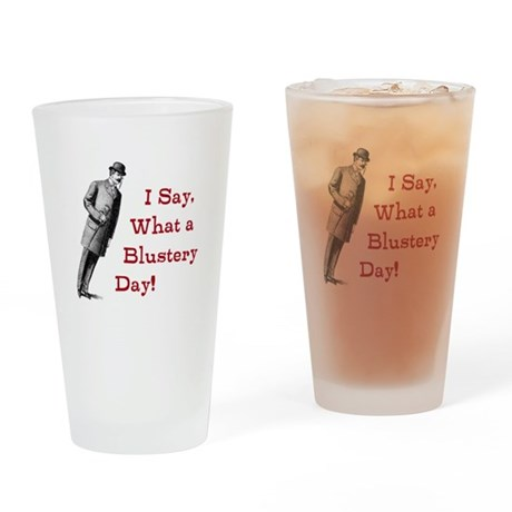 Blustery Day (berry) Drinking Glass