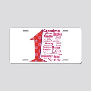 1 Grandmother / Aluminum License Plate
