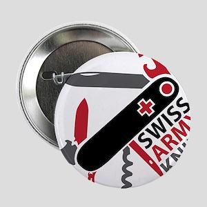 """Swiss Knife Design 2.25"""" Button"""
