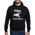 Vintage T-Rex hates Pushups Hoodie (dark)
