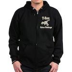 Vintage T-Rex hates Pushups Zip Hoodie (dark)