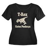 Vintage T-Rex hates Pushups Women's Plus Size Scoo